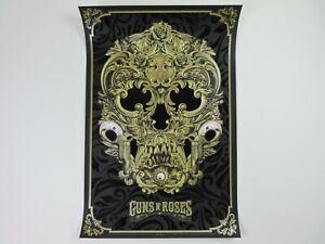 Anthony Petrie Guns N' Roses Flocked Screen Print Art #/200 Rock Poster