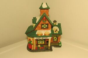 Vintage Holiday TIme Village Collectable Post Office Rare