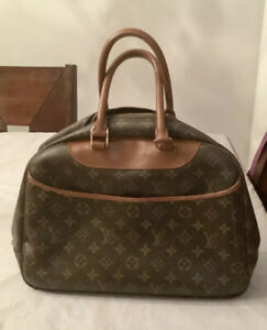 LOUIS VUITTON DEAUVILLE VINTAGE BUSINESS HAND BAG PURSE MONOGRAM CANVAS