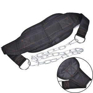 Dipping Belt Chain Gym Fitness Dip Weight Lifting Building - Black  JOBLZ2J Kt