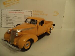 DANBURY MINT  STUDEBAKER PICKUP LIMITED EDITION     1937  IN  BOX