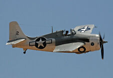 "Model Airplane Plans (UC): F4F-4 WILDCAT 1/16 Scale 28½"" for .14-.29 (Musciano)"
