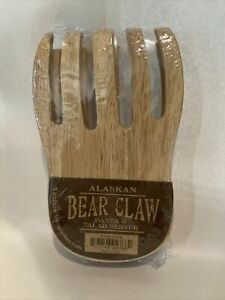 Alaskan Bear Claw Pasta And Salad Wooden Server New in Package