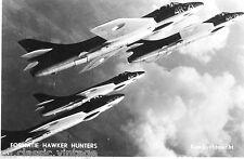 Postcard 862 - Aircraft/Aviation Real Photo Formation Hawker Hunters Dutch Airf.