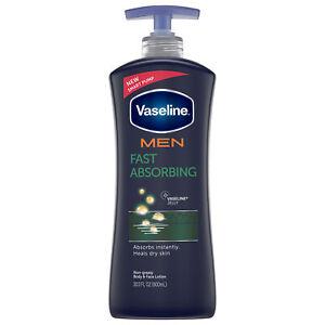 Vaseline Men Fast Absorbing Healing Moisture Body Lotion, 20.3 oz