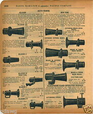 1920 PAPER AD Klaxon New Tone Car Auto Automobile Ford Horn Hand Operated