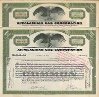 Appalachian Gas Corporation > 1931 old stock certificate share