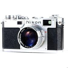 :Nikon S2 35mm Rangefinder Camera w/ Nikkor-S.C 50mm f1.4 Lens - Parts/Display
