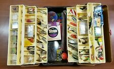 VINTAGE TACKLE BOX TED WILLIAMS 34435 FLY FISH  LOADED W/ LURES, TACKLE