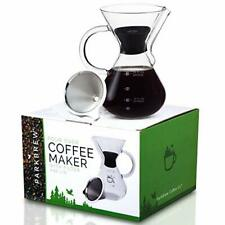 Parkbrew Pour Over Coffee Maker Set Includes Glass Pourover Carafe Up To 27