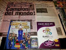 Album Figurine Panini Campioni Mondo+Event Kick off completi+Gazzetta 2006-1934
