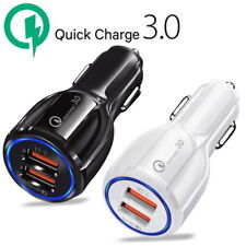 QC 3.0 Fast Car Charger Adapter Dual USB For iPhone XS MAX Samsung Xiaomi Huawei