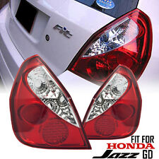 CLEAR-RED LED EURO TAIL LIGHT LAMP REAR FIT FOR HONDA JAZZ GD 02 03 04 05 06 07