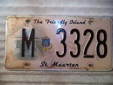 St Maarten NA Used License Plate Tag Dutch Carribean Island original V 3328 150