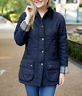 BARBOUR Women's BEADNELL Polarquilt Jacket MSRP $290 NAVY RAVE Reviews