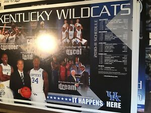 Huge 9 Poster Lot University of Kentucky Wildcats Basketball Schedule/Posters