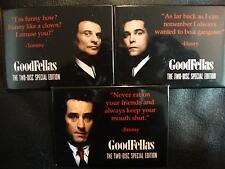 GOODFELLAS DVD PINBACK BUTTON LOT SET OF 3 ROBERT DE NIRO JOE PESCI PROMO ITEMS