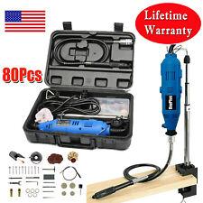 80PCS Rotary Power Multi Tool (Blue) Set Compatible Accessories Mini Drill 135W