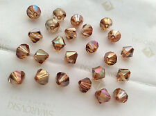 36 Swarovski #5301 8mm Crystal Copper Faceted Bicone Beads