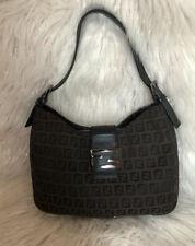 Подлинный Fendi Zucca кожаная с отделкой большая сумка