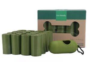Eco-Friendly Biodegradable Dog Poop Bags 16 Rolls Dogs Waste Poo Bag w Dispenser