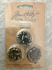 Tim Holtz Idea-ology Findings - 99pcs Long Fasteners 3 tones