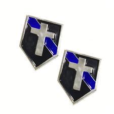 Thin Blue Line Chaplain Cross Law Enforcement Police Sheriff Lapel Pins
