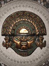 Vintage Mayan Peruvian Copper Wall Plaque