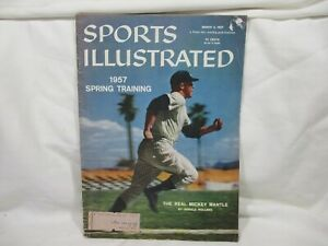 Sports Illustrated March 4 1957 Mickey Mantle Baseball Player