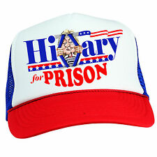 HILLARY CLINTON FOR PRISON HAT FUNNY DONALD TRUMP MAKE AMERICA GREAT AGAIN