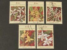 Christmas Island 1994 Orchids 5 x 45c set. CTO. Superb