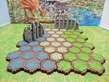 Expand Your Heroscape Battlefield with 63 hexes of Grass, Rock & Sand with Ruins