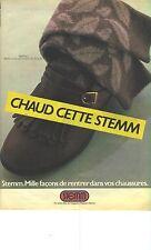 """PUBLICITE ADVERTISING 1982   STEMM  Chaussettes """" chaud en stemm"""""""