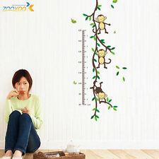 MONKEY TREE VINE Wall Decal Kids Room Decor Height Measure Chart Vinyl Sticker y