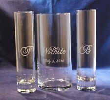 3 Piece Sand Ceremony Set with 7 x 3 Vase, Free Personalization