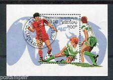 LAOS 1994, BLOC timbre 126, FOOTBALL, COUPE DU MONDE aux ETATS-UNIS, oblitéré