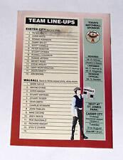 Exeter City -v- Walsall  1993-1994