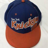 New York Knicks Snapback Forty Seven 47 Hat Hardwood Classics Blue Orange NBA