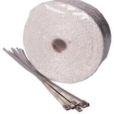 Hitzeschutzband Fiberglas weiß 10m für Auspuffanlagen inkl. 6 Kabelbinder