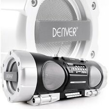 Ghettoblaster Stereo Anlage Soundbox Boombox tragbar USB MP3 CD Radio SD schwarz