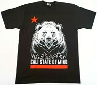 CALI STATE OF MIND T-shirt California Republic Bear Flag Men's Tee New