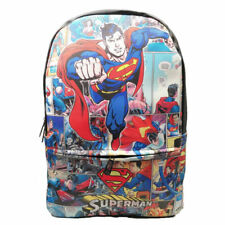 f5f2f17a91 DC Superhero Backpack Wonder Woman The Flash Schoolbag PU Leather Knapsack  Gift