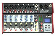 E-Lektron SE-8 Live Mischpult 6-Kanal + stereo AUX + USB/Bluetooth + Soundkarte