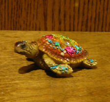 Kubla Craft KC0336 MOSAIC TURTLE, Enameled Pewter NEW From Retail Store,