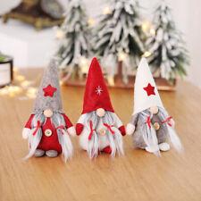 Decoración navideña Papá Noel muñeco de Navidad sin rostro decoración navideña