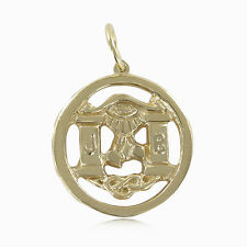 Solid 9ct Yellow Gold Masonic Pendant - Hallmarked