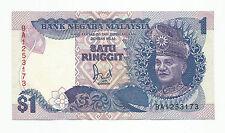"MALAYSIA  RM1 6th Series 1986 Replacement Prefix BA_1253173  ""GEF"""