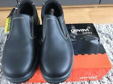 Gevavi Safety Shoes Black Slip On UK Size 8 Eu 42 BNIB GS35-00