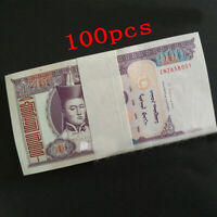 a bundle 100pcs Mongolia 100 Tugrik Banknotes brand new Collections Uncirculated