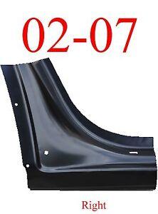 02 07 Chevy Trailblazer Right Dog Leg, GMC Envoy, Olds Bravada 0875-122